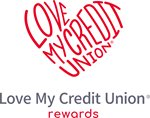 Love My Credit Union Word Heart